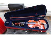 STENTOR 11 VIOLIN & BOW STENTOR CARRY CASE ALL IN MINT CONDITION INTERMEDIATE STUDENTS INSTRUMENT