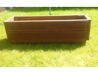 Large brown Handmade planter. Made from reclaimed decking. Solid. Pretreated