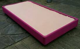 silentnight single bed base. solid base with soft foam top. requires a mattress on top.