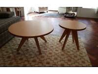 Bamboo coffee table and side table
