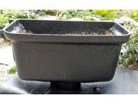 Large cast iron rain hopper planter