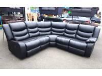Brand New!!! Leather Corner Recliner Sofas
