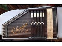 Rare vintage Lohengrin German wooden auto harp/zither 32 string/9 bar autoharp