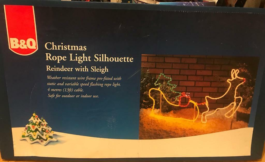 official photos 2f112 6a70e Christmas Rope Light Silhouette-Reindeer with Sleigh (never used) | in  Newton Mearns, Glasgow | Gumtree