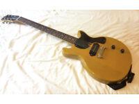 Tokai TJ60 Les Paul Junior Doublecut - P-90 MIJ TV Yellow