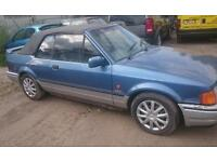 Escort cabriolet xr3i barn find