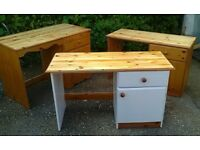 Lovely Solid Pine Dressing Tables Complete Refurbished - Free Delivery In Southampton