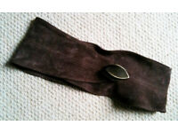 FRENCH CONNECTION Ladies Brown Suede Belt