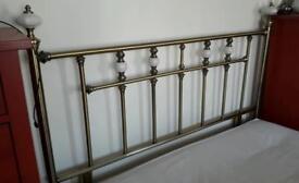 Brass double headboard