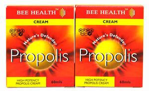 2 Packs of Bottls Bee Health PROPOLIS Cream 60mls x 2
