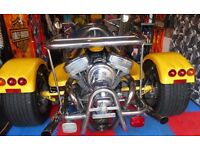 rewaco TRIKE ,HS6 GT 1450cc V TWIN HARLEY MOTOR, only 4791 dry miles, p/ex Sidecar Combo, Fuoco,MP3