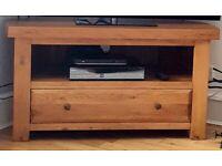 HERCULES Rustic Solid Oak Corner TV Unit from oak furniture land