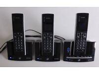 bt stratus 1500 trio Cordless Phone answer machine + 3 handsets
