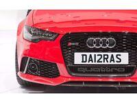 DA12RAS DARRAS DARRA One off Cherished Personalised Number Plate AUDI GOLF MERCEDES LEXUS PORSCHE