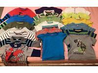 Bundle of boys tops & tshirts