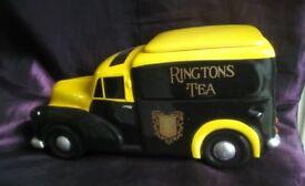 RINGTONS Large Ceramic Morris Minor Van Tea Caddy