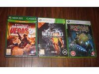 BATTLEFIELD 3/RAINBOW SIX VEGAS 2/BIOSHOCK 2 XBOX 360 XBOX ONE GAMES !!