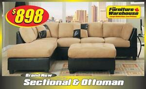 Microfiber Sectional Only $988-Limited Quantity Available
