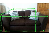 FREE!! Brown Fabric DFS Two Seater Sofa