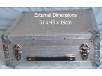 Flight Case - silver briefcase style