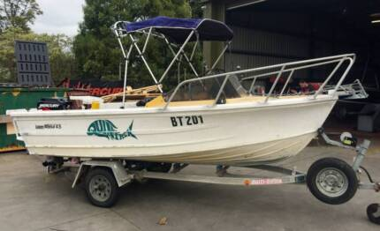 Quintrex 4.5 metre Laze About 60hp Mercury runabout fishing boat Warragul Baw Baw Area Preview