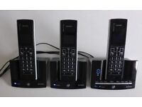 bt stratus 1500 trio Cordless Phone answer machine + 3 handsets