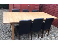 Large Table with 6 Chairs.