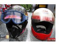 x2 USED Motorcycle Helmets