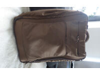 Brown large Suitcase wheels retractable handle