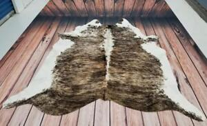 Natural Cowhide Rug TriColor Brindle Cow Hide Rug 85 X 80 Inches Free Shipping Canada Wide 1495