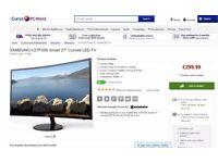 """SAMSUNG V27F39S Smart 27"""" Curved LED TV samsung smart tv 27 inch"""