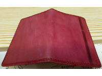 Red genuine leather Vera Pelle card wallet - new