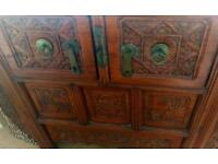 Chinese Solid Teak carved furniture
