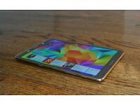 Galaxy tab s 8.4 unlocked 4G lte mint perfect condition with book cover