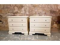 Matching pair of Honey Pine chest of drawers/bedsides