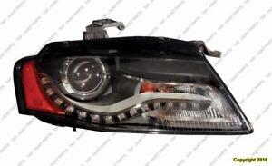 Head Lamp Passenger Side Sedan/Wagon Xenon Without Curve 09-10 High Quality Audi A4 2009-2010