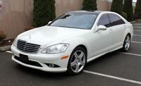 2008 Mercedes-Benz S550 4-MATIC -- A.M.G SPORT PKG -- WHITE ON B