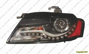 Head Lamp Driver Side Sedan/Wagon Xenon Without Curve 09-10 High Quality Audi A4 2009-2010