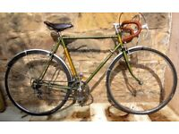 Vintage Raleigh Royale 1969 classic steel racer bicycle with original paintwork and badge