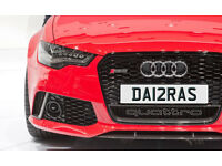 DA12RAS DARRA DARRAGH One off Cherished Personalised Number Plate AUDI GOLF MERCEDES LEXUS PORSCHE