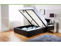 End-lift Ottoman king size storage bed