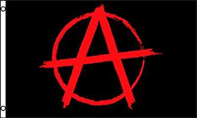 RED & BLACK ANARCHY EMBLEM 3 X 5 FLAG FL737 banner NEW potitical wall hanging