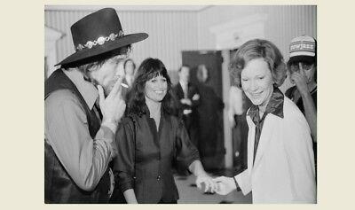 Waylon Jennings Smoking PHOTO President Jimmy Carter Campaign Event, 1980