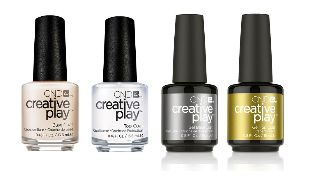CND Creative Play Essentials - Base Coat or Top Coat Gel Pol