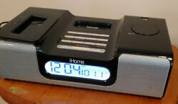 iHome iH6 Clock Radio and Stereo Speaker System w/ line-in Audio works vg cond