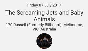 SOLD OUT SHOW Baby Animals and the Screaming Jets Parafield Gardens Salisbury Area Preview