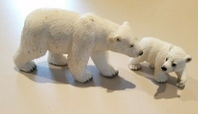 Animals Adults And Babies (Schleich Germany polar bear adult and baby cub set wild)