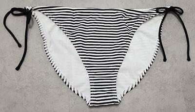 Damen Bikini Hose Gr 48 schwarz weiß gestreift Badeslip von Bodyflirt Badehose