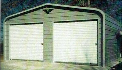 24x26 Steel Metal Garage Storage Building Carport Free Del. Installation