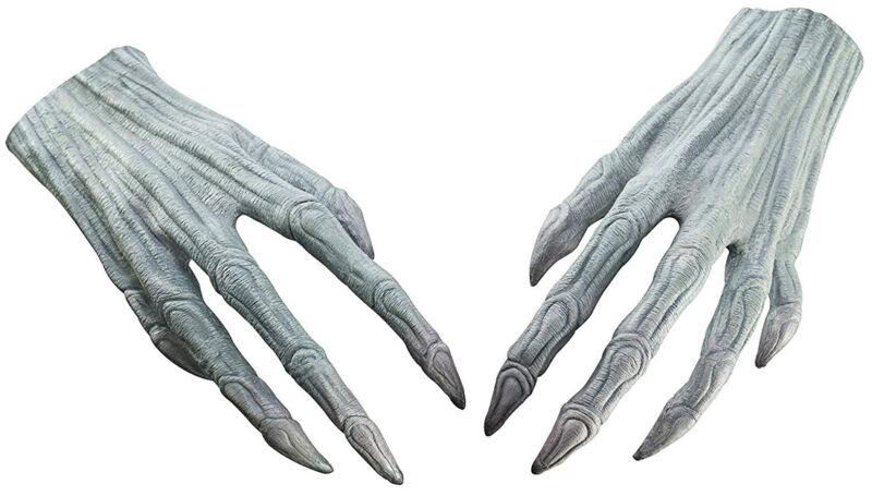Demogorgon Stranger Things Monster Mens Adult Grey Latex Hands